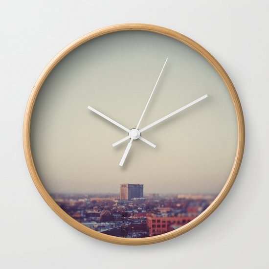 Morning Over Detroit Wall Clock