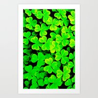 clover Art Prints featuring CLOVER by Ylenia Pizzetti