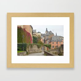 Luxembourg in Fall Framed Art Print
