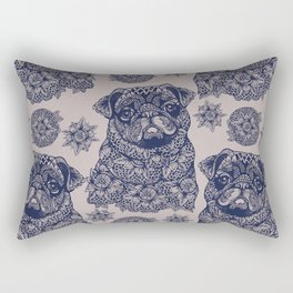MANDALA OF PUG Rectangular Pillow