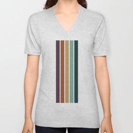 Stripes Pattern No.14 Unisex V-Neck
