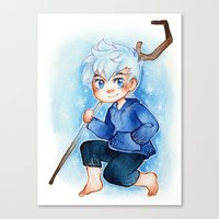 jack frost Canvas Prints featuring Jack Frost by noCek