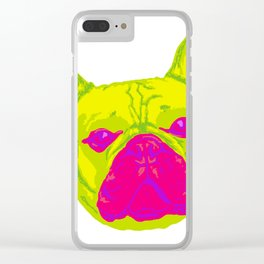 french bulldog - wht Clear iPhone Case