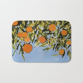 Orange Grove (Blue) Bath Mat