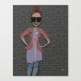 she voted Canvas Print