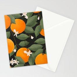 fresh citrus // dark Stationery Cards