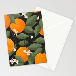 fresh citrus // dark Stationery Cards