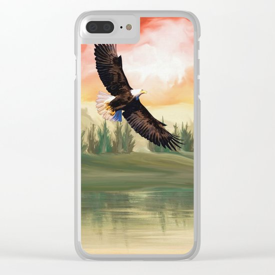 Eagle Fly Clear iPhone Case