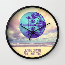 Eternal Summer -Beach- Wall Clock