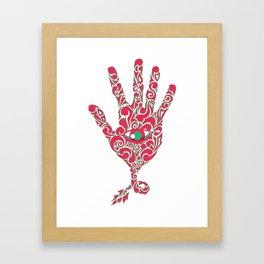 eye on hand Framed Art Print