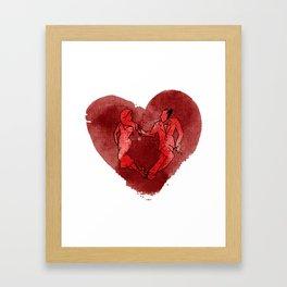 Colgada de Corazon Framed Art Print