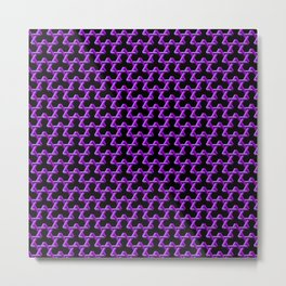 Impossible Purple Triangles Metal Print
