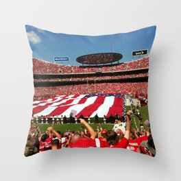 10th Anniversary of 9/11 at Arrowhead Stadium Throw Pillow
