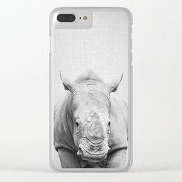 Rhino 2 - Black & White Clear iPhone Case