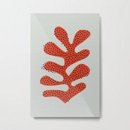 Polka dot coral cut out Metal Print