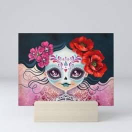 Amelia Calavera - Sugar Skull Mini Art Print