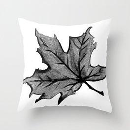 Night Autumn Leaf Throw Pillow