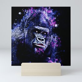 gorilla monkey face expression wscb Mini Art Print