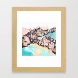 Solitary Beach Framed Art Print