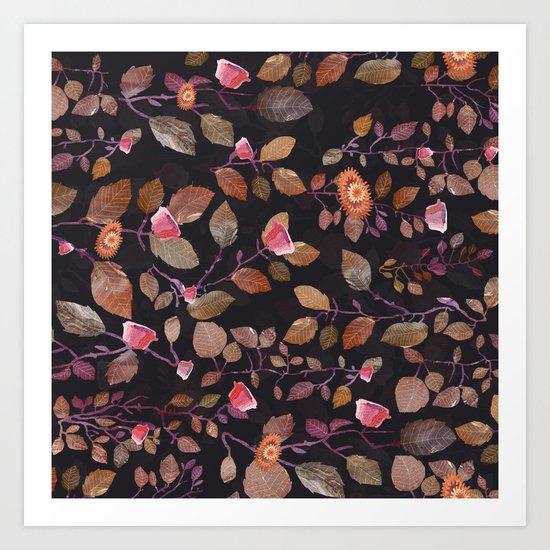 almost pink leaves? garden Art Print