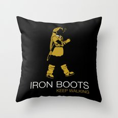Iron Boots Throw Pillow