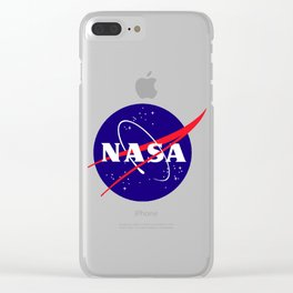 "The Official NASA ""Meatball"" Logo (and licensed!) Clear iPhone Case"