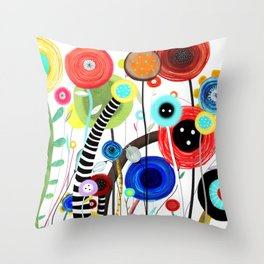 Falling In Love at a Coffee Shop Throw Pillow