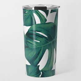 Monstera Leaves Pattern #3 #tropical #decor #art #society6 Travel Mug