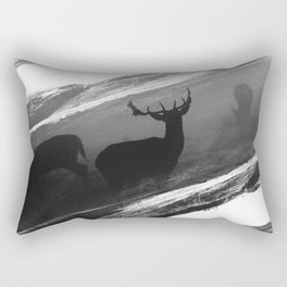 Oh Deer Black Rectangular Pillow