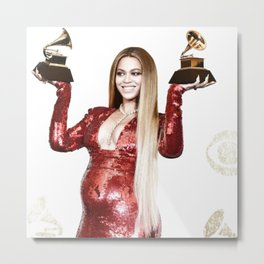 Bey at The Grammy's 2017 Metal Print
