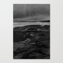 Winter Camus Canvas Print