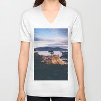 california V-neck T-shirts featuring California by Bethany Young Photography