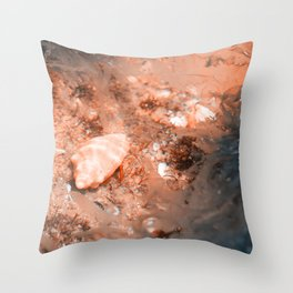 Seashell on the sea bottom Throw Pillow