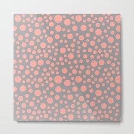 Peach Splat Metal Print