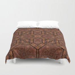 Victorian Art Deco Medieval Pattern dark brown SB33 Duvet Cover