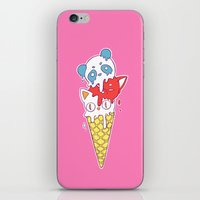 ice cream iPhone & iPod Skins featuring Ice Cream by Freeminds