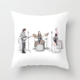 Music band Throw Pillow