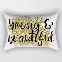 Young & beautiful - golden jazz Rectangular Pillow