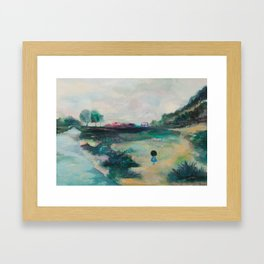 Green Green Grass of Home Framed Art Print