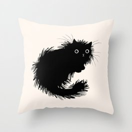 Moggy (No.2) Throw Pillow