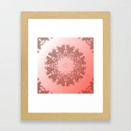 Enamored laced illusion Framed Art Print
