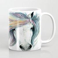 spirit Mugs featuring Spirit by Abigail Leigh