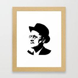 PORTRAIT OF AN IRISH WRITER NAMED JAMES Framed Art Print