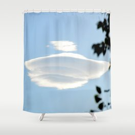 Lenticular cloud over Queen Charlotte Town Shower Curtain