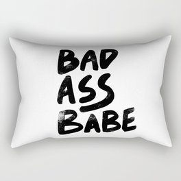 Bad Ass Babe vintage Rectangular Pillow