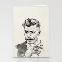 moustache Stationery Cards featuring Moustache by hectordanielvargas