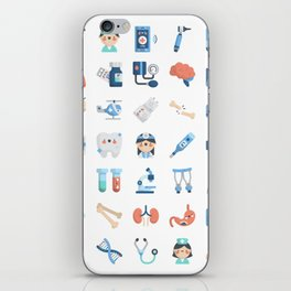 CUTE MEDICINE / SCIENCE / DOCTOR PATTERN iPhone Skin
