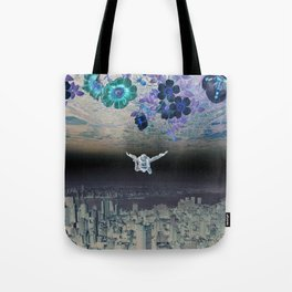A Skydiver Between Two Parallel Universes Tote Bag
