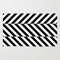 Black and White Op Art Design Rug