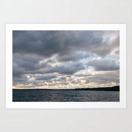 Killbear Provincial Park - Ontario, Canada   landscape print nature water blue sky great lakes photo Art Print